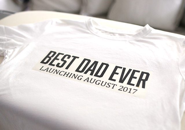 Retro DIY Father's Day Tee Shirt - Step 3