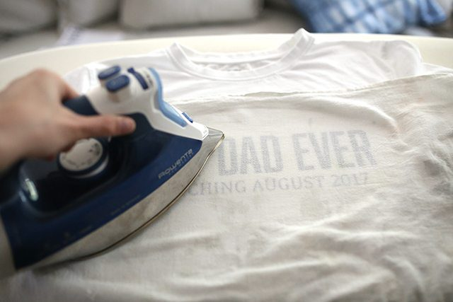 Retro DIY Father's Day Tee Shirt - Step 4