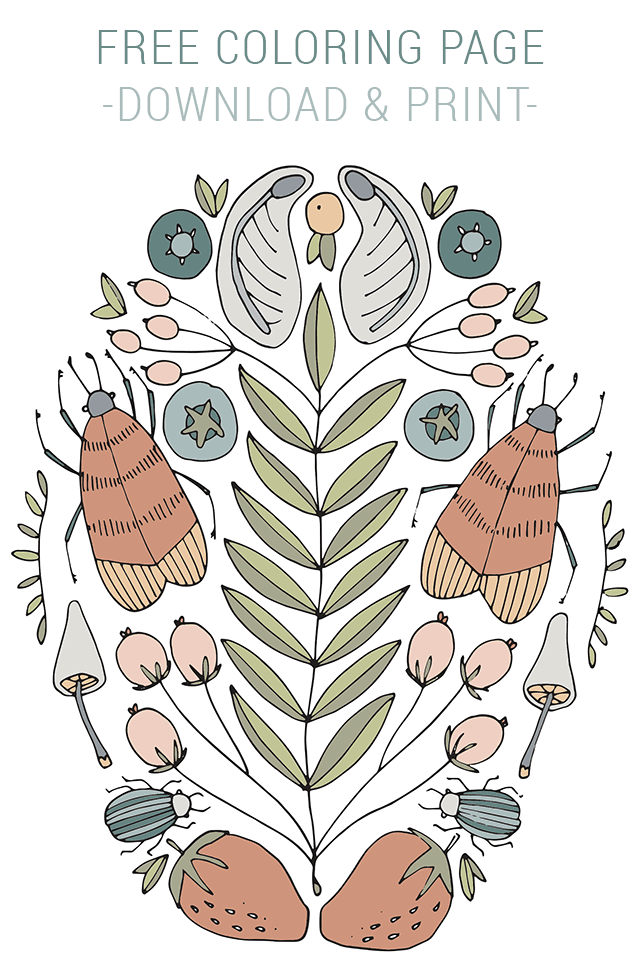 Free Coloring Page from Shrimp Salad Circus - Nature Doodles