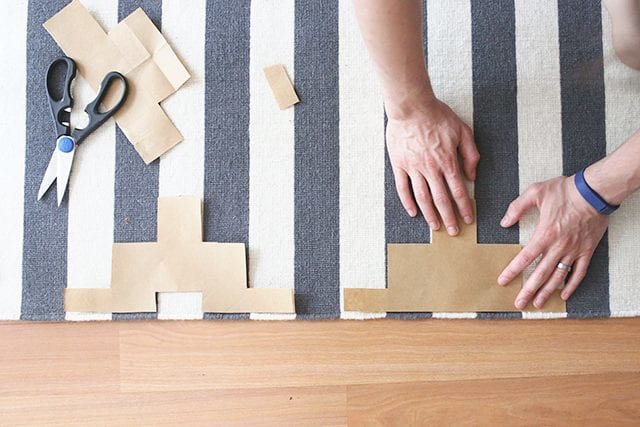 How to Paint a Rug - Step 1