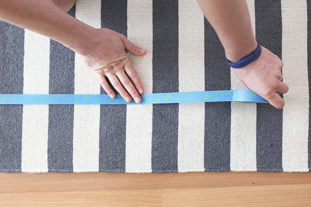 How to Paint a Rug - Step 3