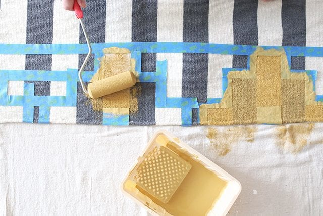 How to Paint a Rug - Step 5