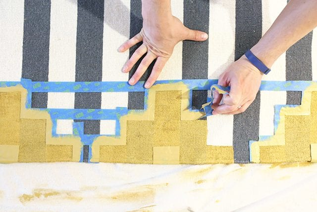 How to Paint a Rug - Step 6