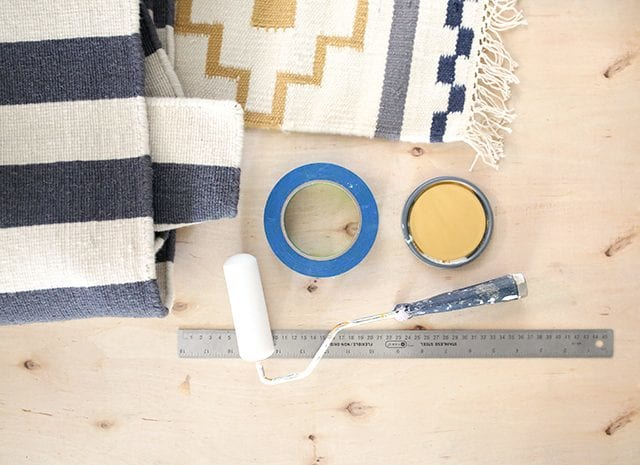 How to Paint a Rug - Supplies