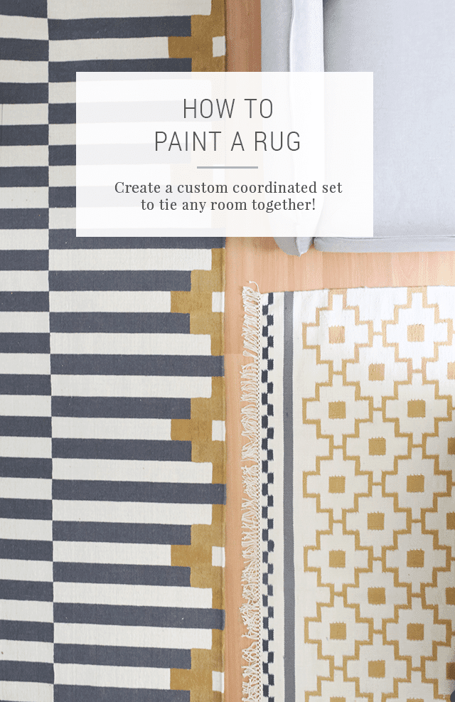 How to Paint a Rug to Make a Coordinated Set - IKEA Hacks