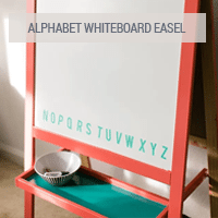 IKEA Hack - Alphabet Whiteboard Easel