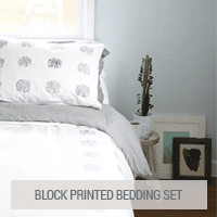 IKEA Hacks - Block Printed Bedding Set