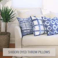 IKEA Hack - Shibori Dyed Throw Pillows