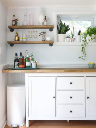 IKEA Hacks – DIY Bar Cabinet & Kitchenette thumbnail