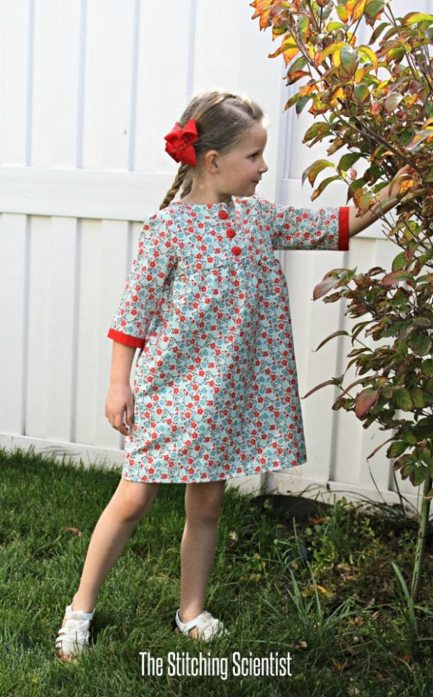 Free Fall Sewing Projects and Patterns - Brooklyn Empire Dress for Girls
