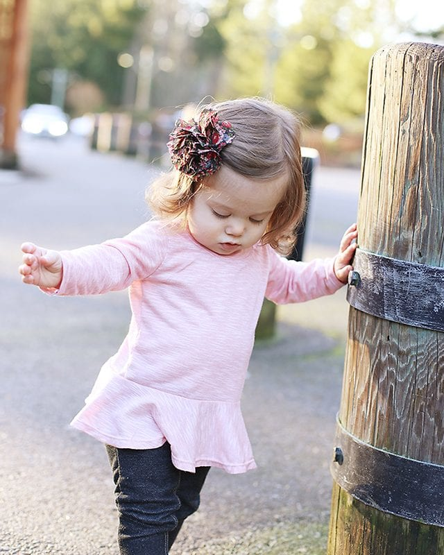 Free Fall Sewing Projects and Patterns - Peplum Top for Girls