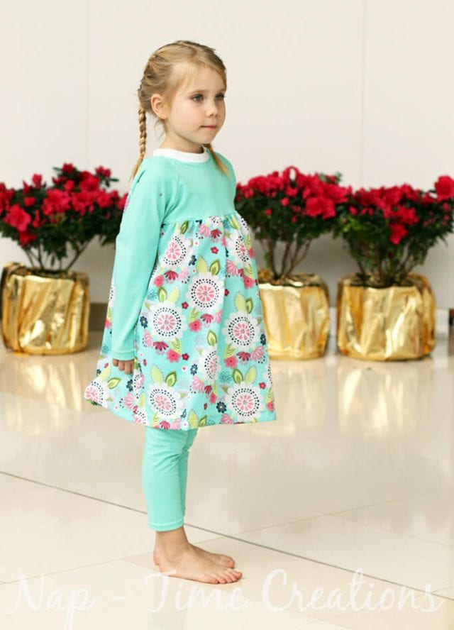 Free Fall Sewing Projects and Patterns - Raglan Dress for Girls