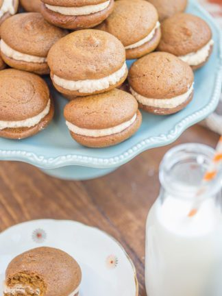 Pumpkin Whoopie Pie Recipe With Maple Spice Whipped Cream thumbnail