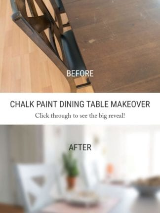 Before and After – DIY Chalk Paint Dining Table and Chairs thumbnail