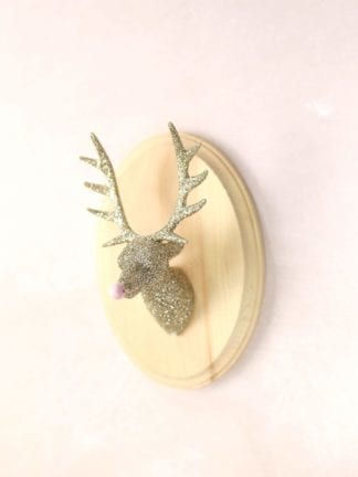 DIY Glitter Taxidermy Reindeer for Christmas thumbnail
