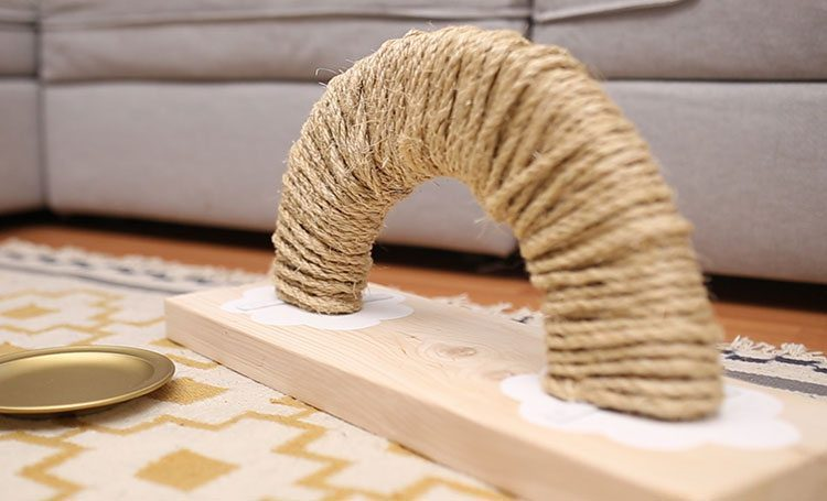 How to Make a Rainbow Cat Scratching Post