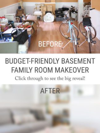 The Big Reveal – My Budget-Friendly Living Room Basement Makeover with IKEA thumbnail