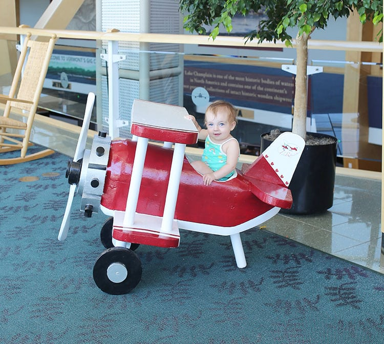 Toy Airplane at Burlington International Airpot in Vermont BTV