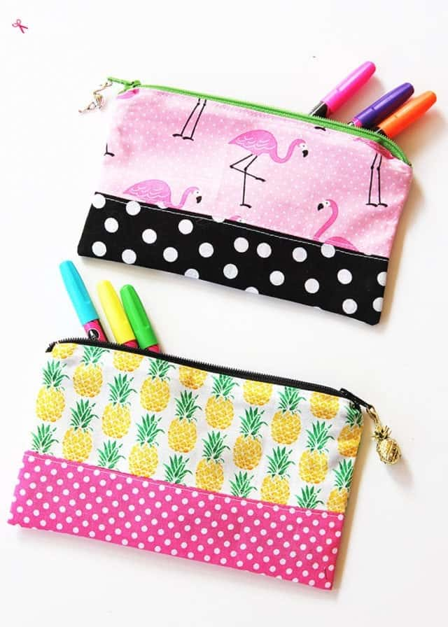 Zipper Pencil Pouch DIY Sewing Tutorial