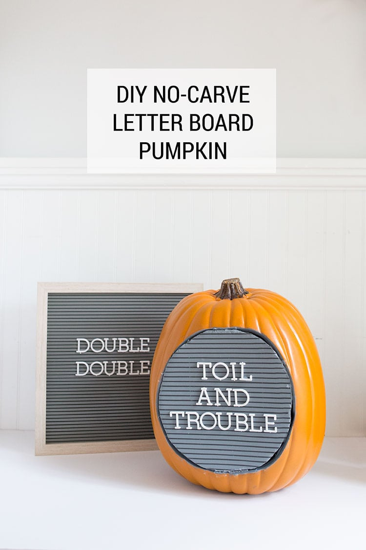 No Carve DIY Letterboard Pumpkin Tutorial for Halloween
