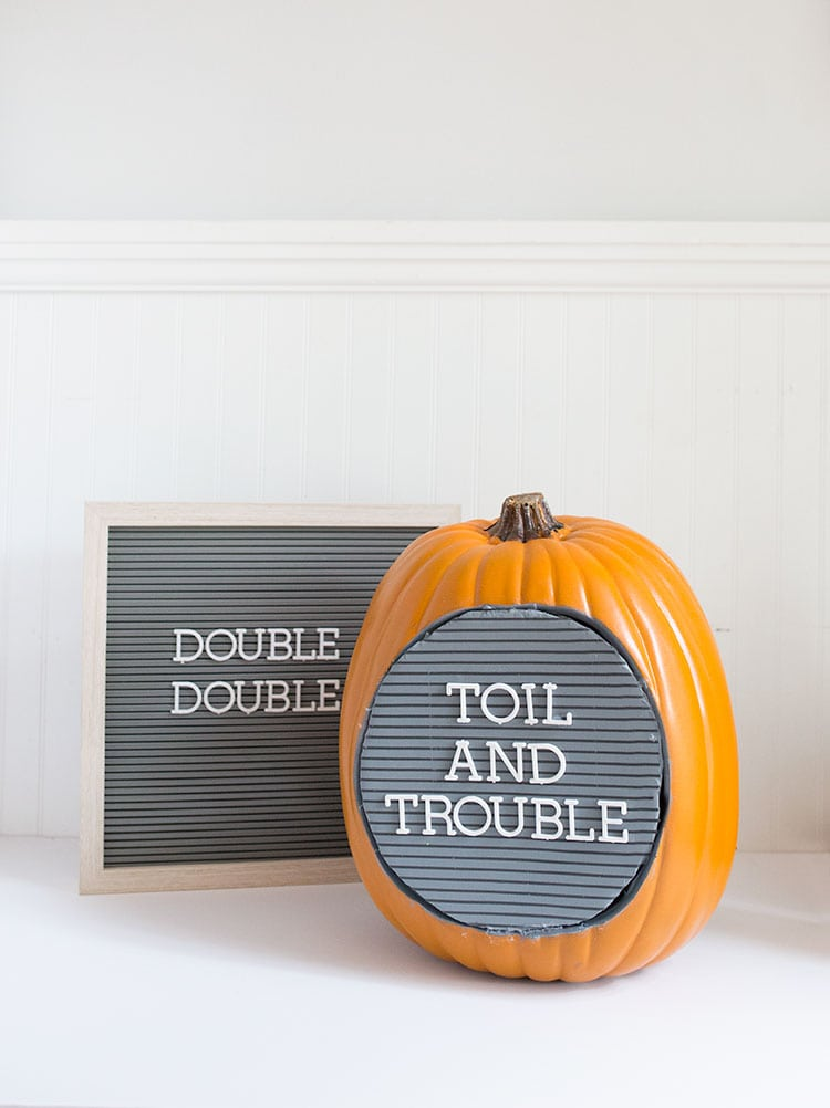 No Carve DIY Letter board Pumpkin Tutorial for Halloween
