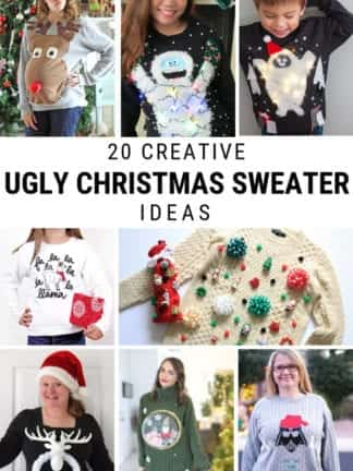 20 DIY Ugly Christmas Sweater Ideas thumbnail