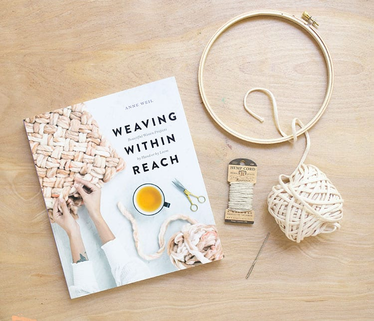 Flax and Twine DIY Woven Trivet Pattern Kit from Weaving Within Reach