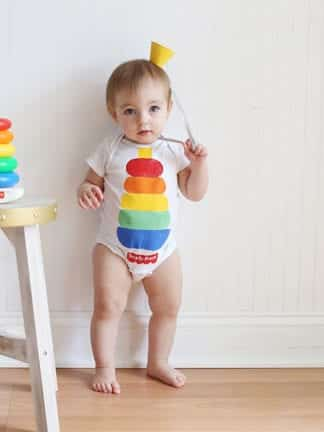 Fisher-Price Stacking Toy DIY Baby Halloween Costume thumbnail