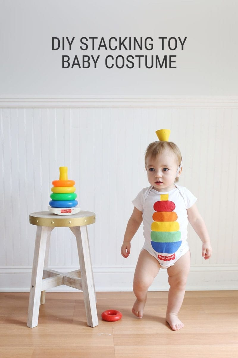 How to Make a Fisher Price Stacker Toy DIY Baby Halloween Costume