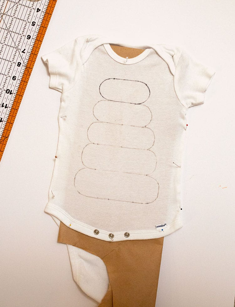 How to Make a Fisher Price Stacking Toy Baby Costume for Halloween - Step 1