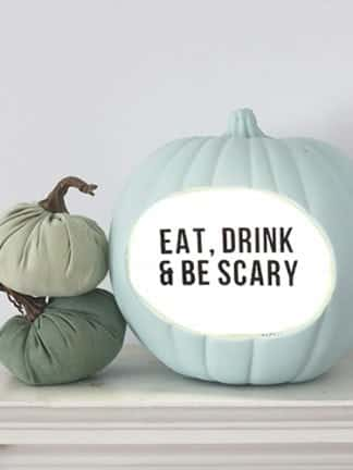 Lightbox DIY Quote Pumpkin for Halloween thumbnail