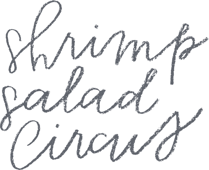 Shrimp Salad Circus handwriting logo