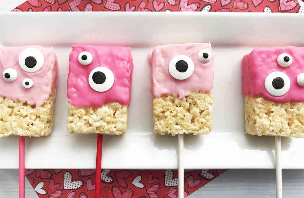 Cute Monster Valentine Rice Krispie Treats Ideas