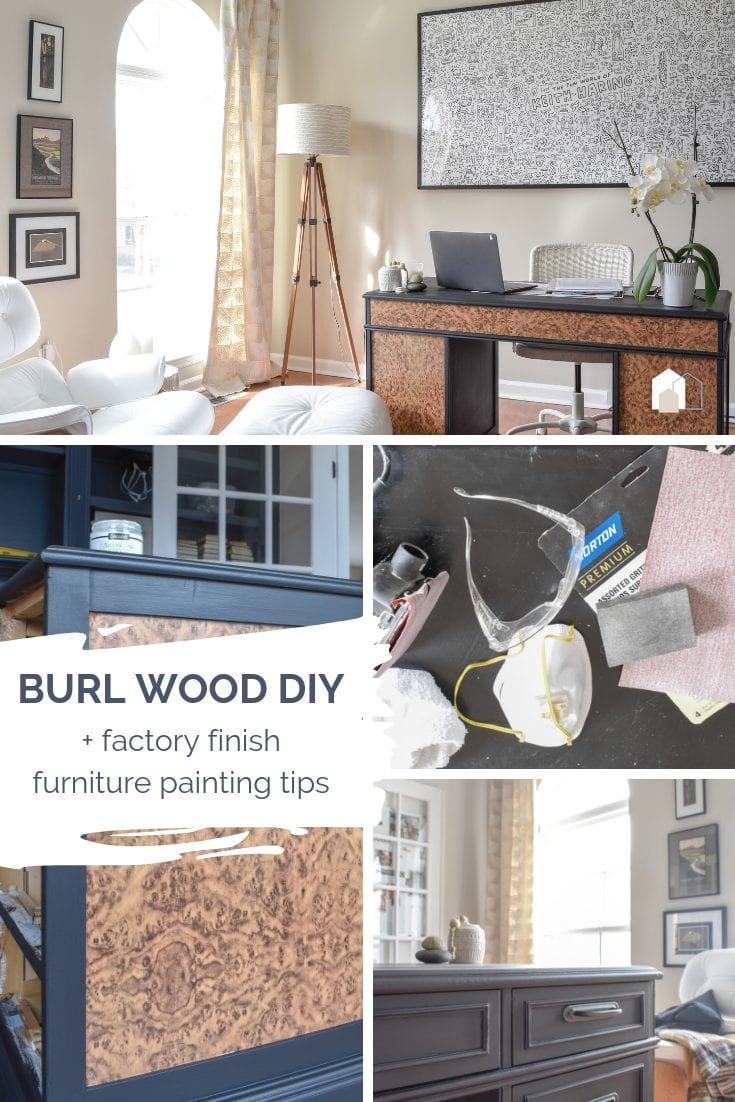 Burl Wood Furniture Hack and Factory Finish Paint Job You Can DIY →