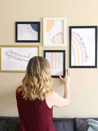Free Printable Wall Art & My Trick to Create a Gallery Wall in Minutes thumbnail