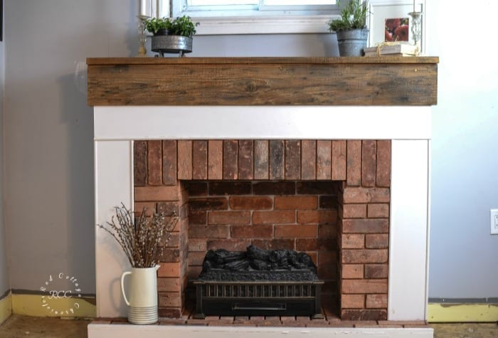 How to Build a Fireplace - Red Cottage Chronicles