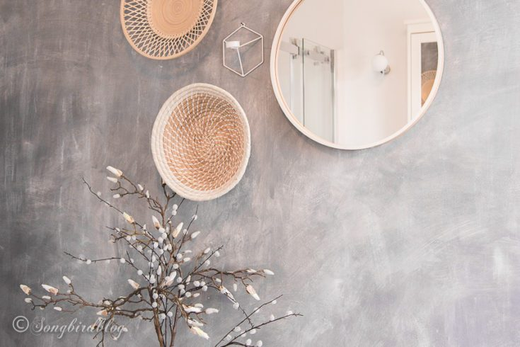 How to paint a faux concrete wall in five easy steps