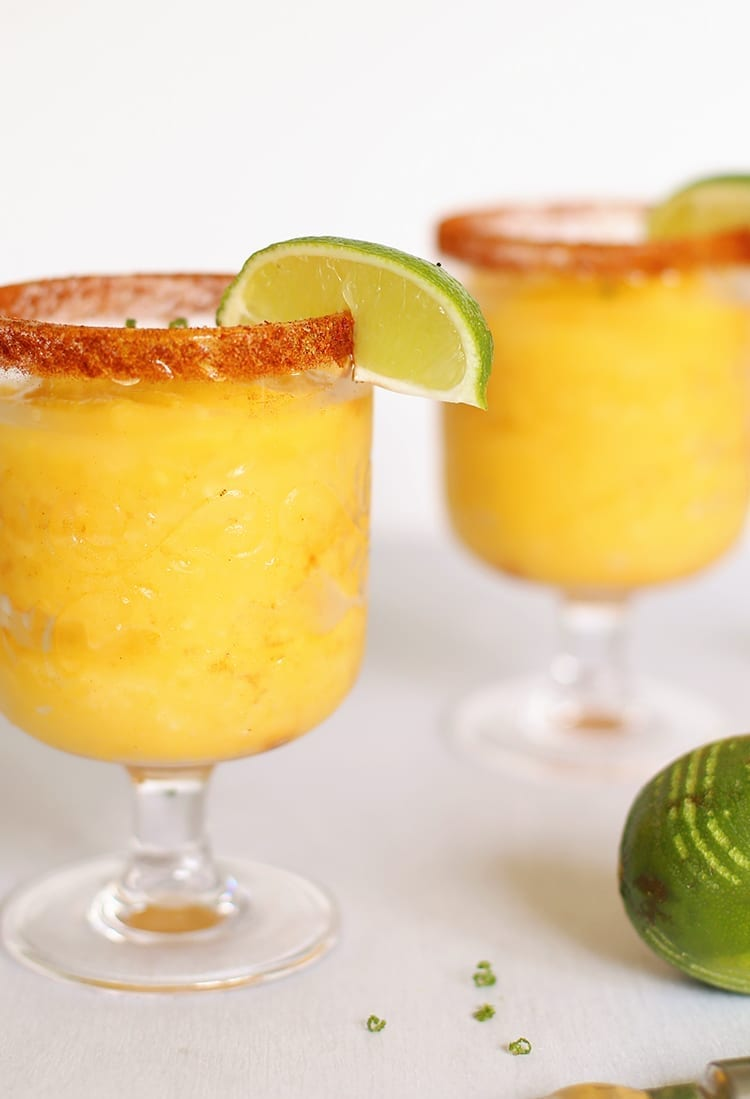 Chili Lime Frozen Mango Margarita Recipe Made from Scratch