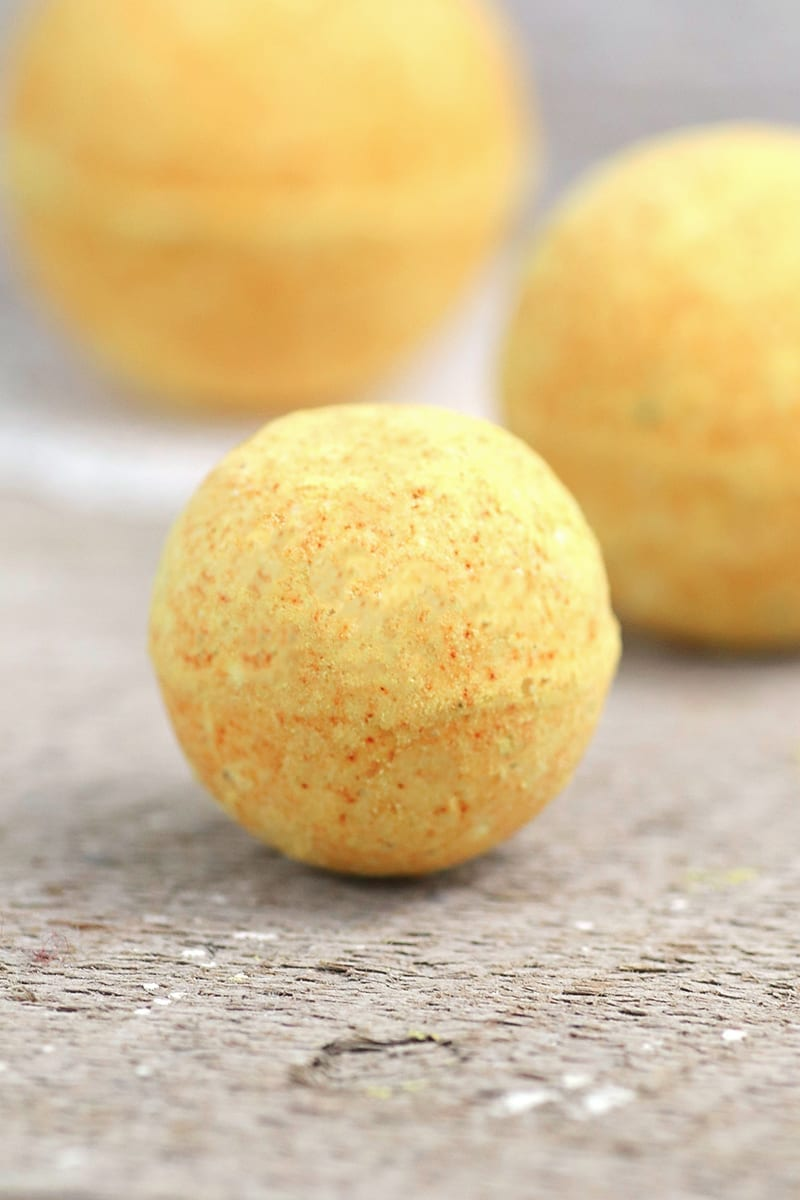 Turmeric All Natural Bath Bomb Recipe without Citric Acid