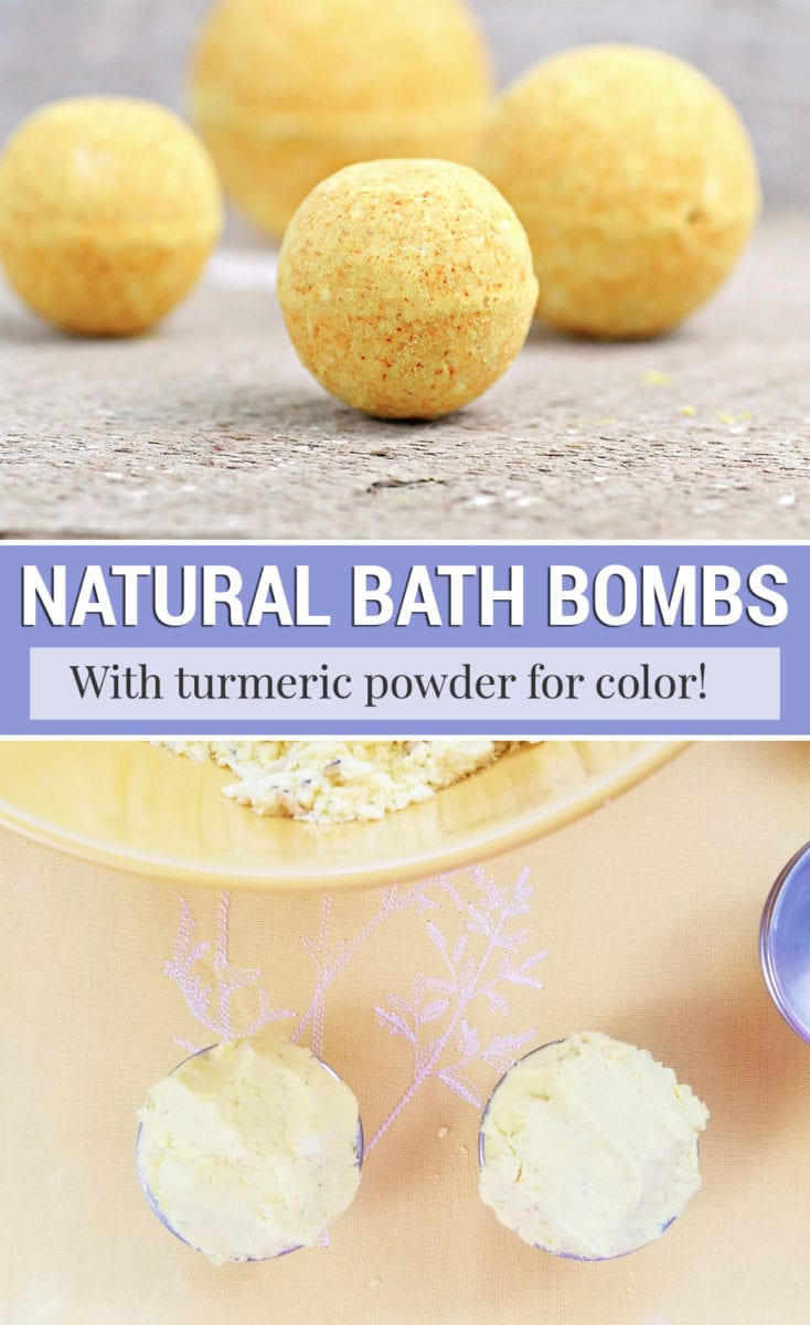 Turmeric and Dandelion Natural Bath Bomb Recipe Without Citric Acid