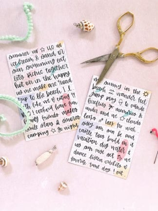 Hand-Lettered Free Printable Magnetic Poetry thumbnail