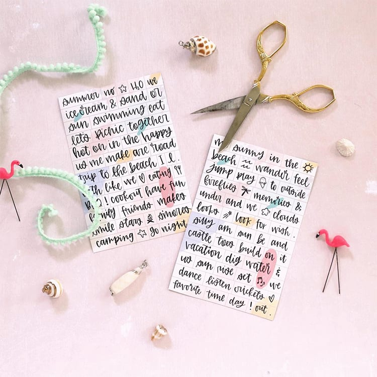 Free Printable Magnetic Poetry by Shrimp Salad Circus