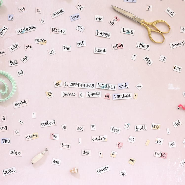 Hand Lettered Free Printable Magnetic Poetry
