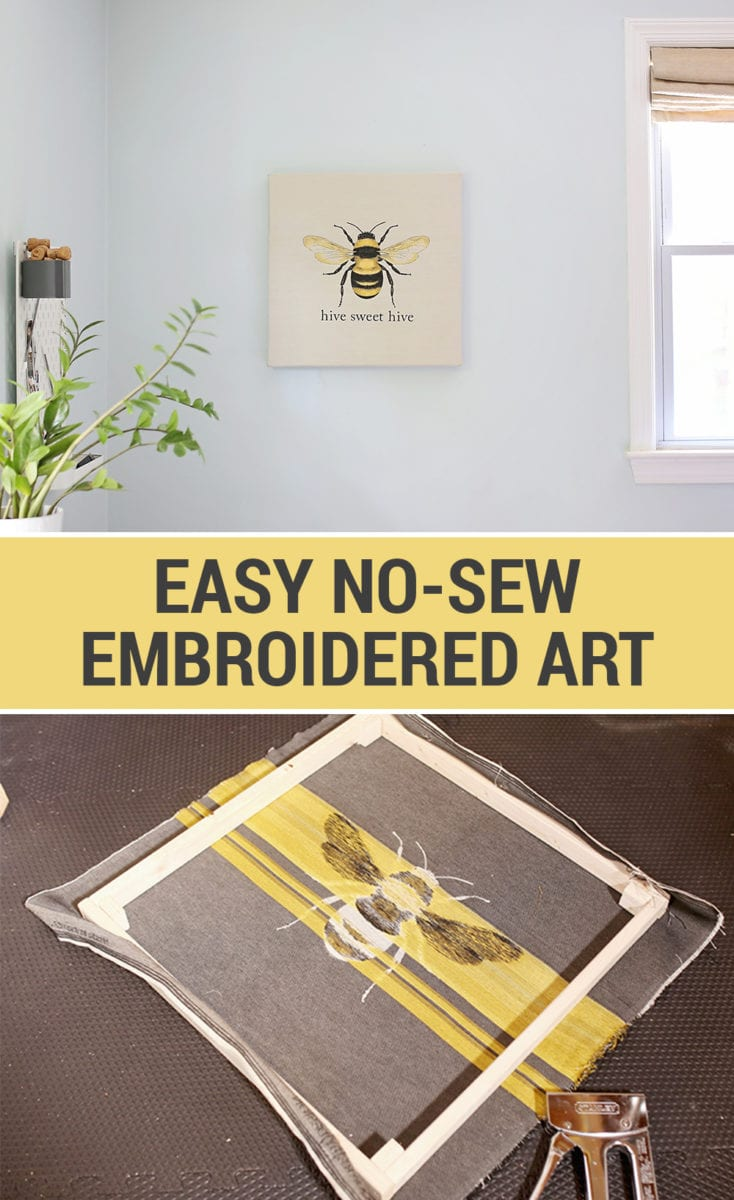 No Sew Easy Embroidery Wall Art
