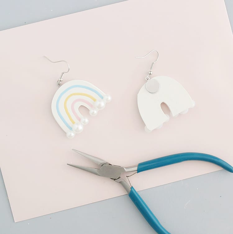 DIY Polymer Clay Earrings Step 10