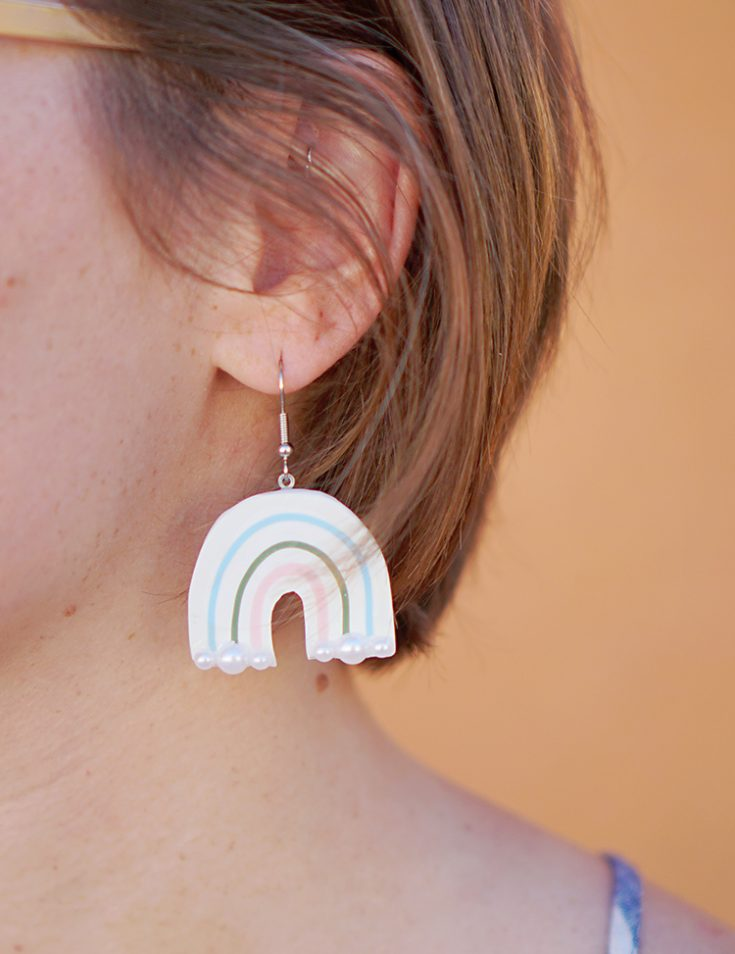 Rainbow DIY Polymer Clay Earrings