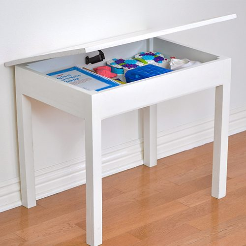 DIY Kids Table with Storage
