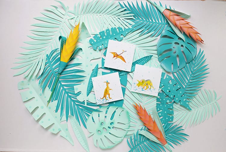 Free Printable Dinosaur Art for Preschool for a Dinor Birthday Party