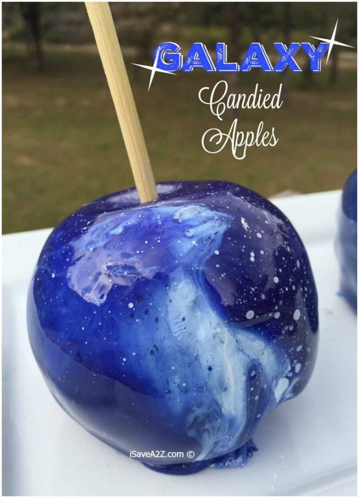 Galaxy Candied Apples