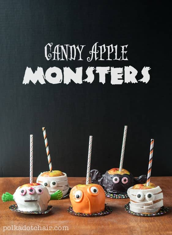 How to Make Candy Apple Monsters & Caramel Apple Decorating Ideas